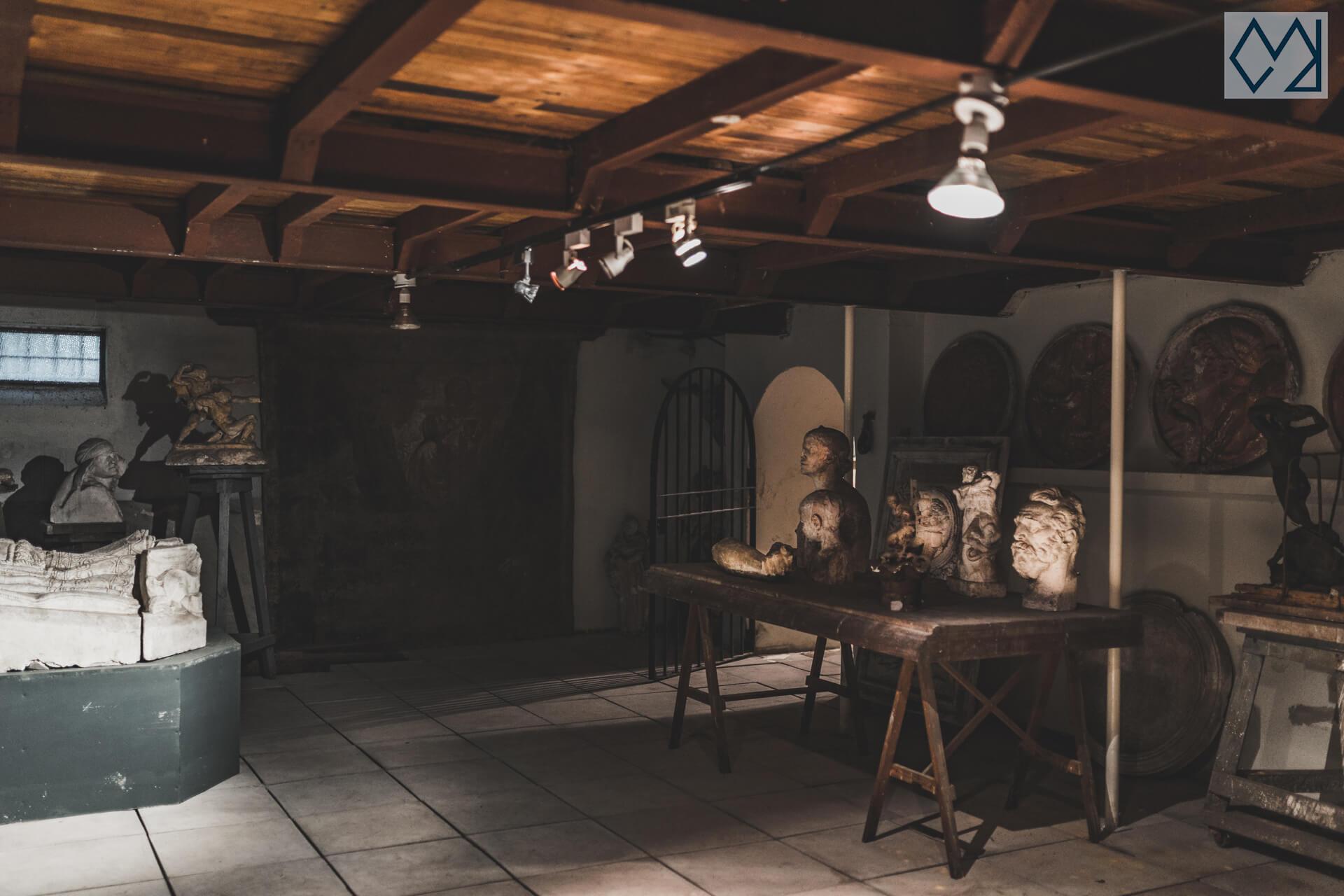 Plano general del sótano del taller de José Luis Zorrilla